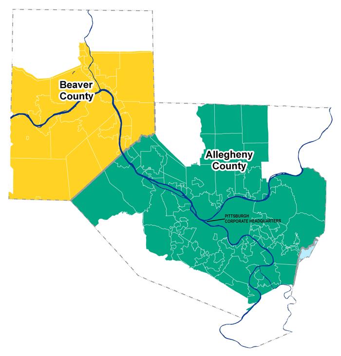 Duquesne Light Service Area Map
