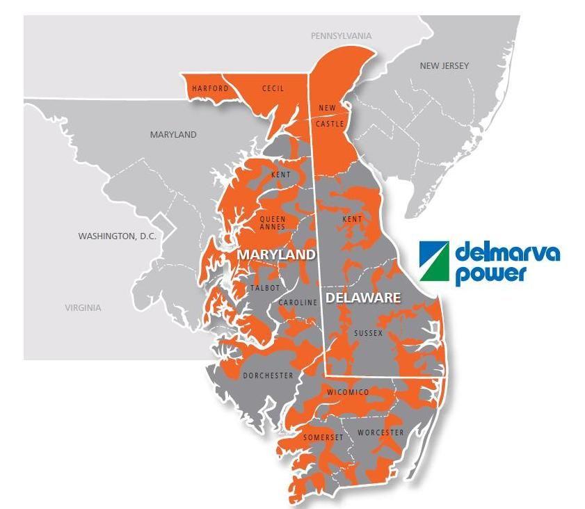 Delmara Power Service Area Map
