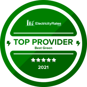 ElectricityRates.com Best 2021 Green Provider - Tomorrow Energy