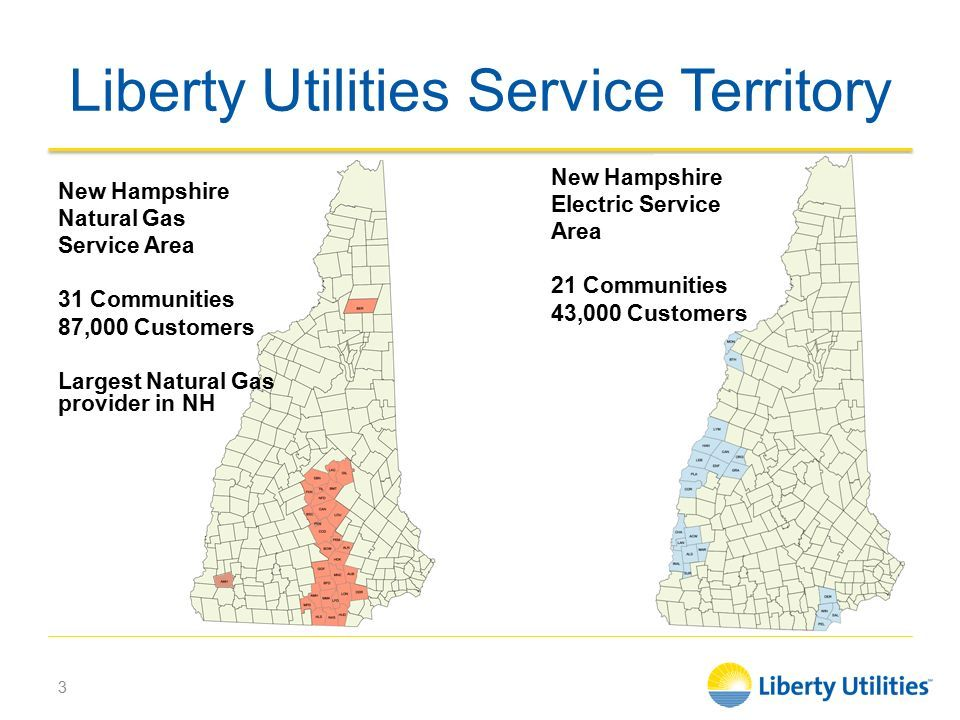Liberty Utilities Natural Gas and Electricity Service Areas