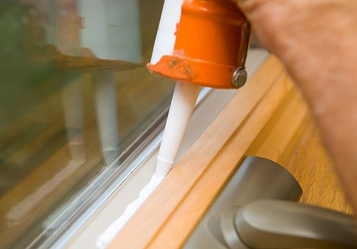 Caulk you windows and doors to save energy