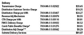 delivery charges on electricity bill