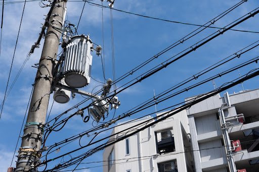 Electricity distribution power lines