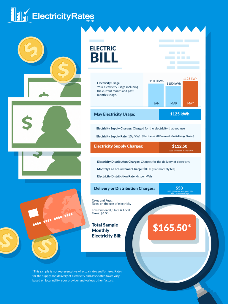 How to Read Your Electricity Bill Infographic