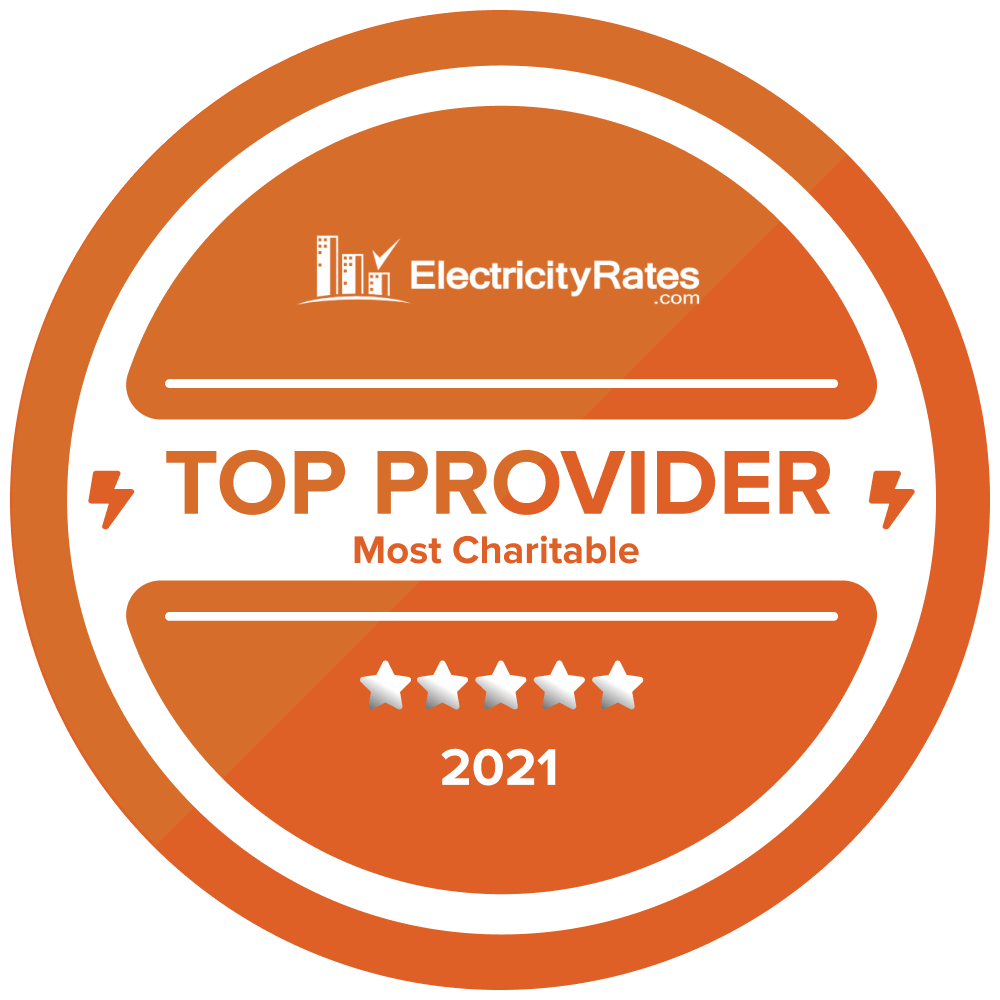 2021 Most Charitable Electricity Provider - Starion Energy
